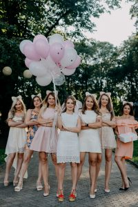 Hen Party with Pink Balloons
