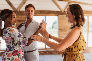 Teaching A First Dance Lesson In the Wedding venue